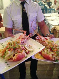 """Restaurant Le Nasse, Reggio Calabria, Typical dish!  """"Aragosta alla Catalana"""" www.ubais.it"""