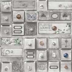 Vliesbehang lades grijs (dessin 101508) kopen? Verfraai je huis & tuin met Behang van KARWEI
