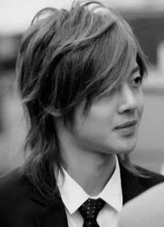 Kim Hyun Joong 김현중 ♡ black & white ♡ Kpop ♡ Kdrama ♡ long hair ♡