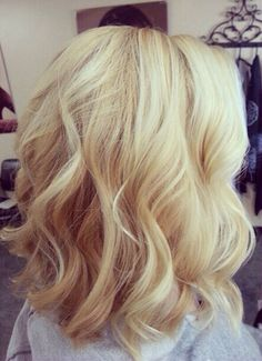 I would love love love to have short blonde hair!