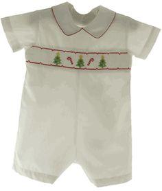 Boys White Smocked Christmas Outfit