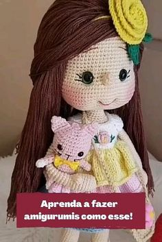 Crochet Dolls Free Patterns, Crochet Doll Pattern, Knit Crochet, Crochet Hats, Needle And Thread, Crochet Projects, Knitting, Sewing, Fun
