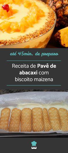 Receita de Pavê de abacaxi com biscoito maisena #receitasdenatal #cardapiodenatal #ceiadenatal #pavê #pavêdenatal #abacaxi #sobremesadenatal #sobremesacomabacaxi #deliciadeabacaxi #pavedeabacaxi