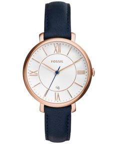 I want a watch with navy leather straps. But I want silver, not gold.