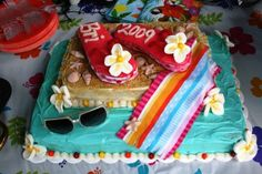 flip flop luau birthday cakes - Bing Images