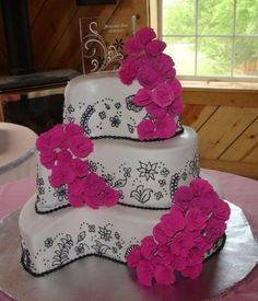 Pink and Black Wedding
