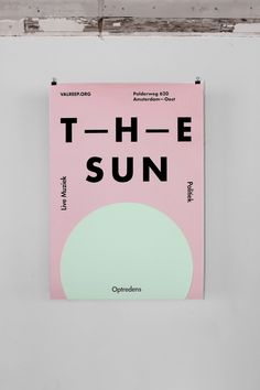 Futura Bold  The Sun  http://www.behance.net/gallery/The-Sun-Rises-in-the-East-Op-de-Valreep/5172161 Futura Bold