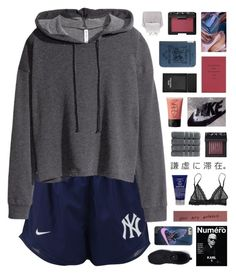 """sometimes it snows in april"" by nanarachell ❤ liked on Polyvore featuring NIKE, H&M, Enchanté, Kiehl's, Eberjey, NARS Cosmetics, Christy and Tom Ford"