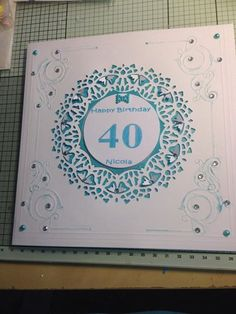 another card made to order for 40th birthday
