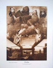 """Original Collage of Edward Curtis Images """"Visions of the Northwest"""""""