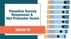 #TableauTipTuesday: How to Visualize Survey Data on a Likert Scale and Include a Net Promoter Score Big Data Visualization, Scores, Bar Chart, No Response, Promotion, Positivity, This Or That Questions, Bar Graphs