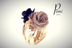 Gold Ring - Pomi Icing, Gold Rings, Silver Jewelry, Jewels, Desserts, Handmade, Food, Tailgate Desserts, Deserts