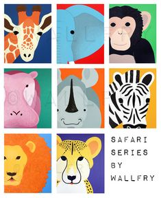 Giraffe Print nursery art 8x10 safari artwork baby  by Wallfry, $18.00