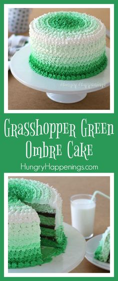 Are you looking to make something special for St. Patricks Day? Try making this beautiful Grasshopper Green Ombre Cake and show off your baking skills!