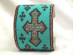 .Southwestern Beaded Cuff Bracelet 1655