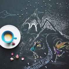 Fairy-Tales And Coffee That Illustrate The Importance Of The Imagination Coffee And Books, Coffee Love, Coffee Art, Latte Art, Cartoon Disney, Chocolates, Coffee World, Good Morning Coffee, Coffee Photography
