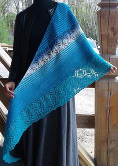 Free Knitting Pattern for Afetos Shawl