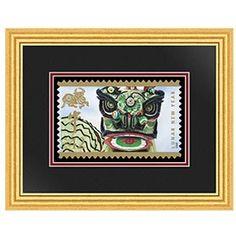 2009 Year of the Ox Stamp Framed Art