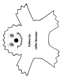 Alphabet Monster for flannel board or magnet board
