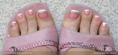 Pretty, pretty princess toes: Orly Polo Princess & nail art stickers + French pedi