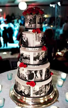 Storytelling wedding cake