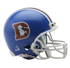 Denver Broncos 1975 to 1996 Mini Throwback Helmet