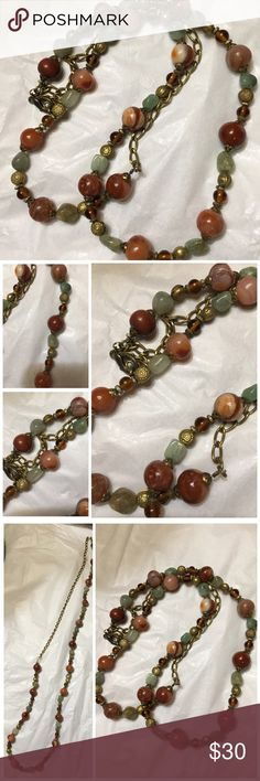 Vintage Glass Bead Necklace Vintage Necklace from Grandmothers Estate Jewelry Necklaces