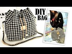 In this video DIY tutorial I show you an easy way to make the purse bag by own hands from scratch. ✂ Materials you need to make this DIY bag: - fabric - inte. Diy Backpack, Diy Tote Bag, Diy Purse, Diy Crafts Tv, Old Jeans Recycle, Bucket Bag, Sac Michael Kors, Handbag Tutorial, Backpack Tutorial