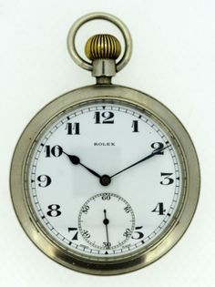 51ddeb2056 Currently at the #Catawiki auctions: Rolex - British military Issued pocket  watch, ca.1940