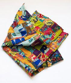 Patchwork African Print Baby Mat/ Quilt