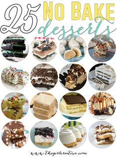 Delicious, tasty and oh-so-good no bake desserts. These yummy treats are perfect for the hot weather months when you don't want to turn that oven on.