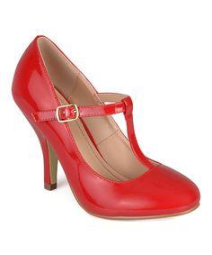 Loving this Red Nealsen T-Strap Pump on #zulily! #zulilyfinds