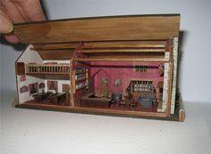 Villlage Pub, the Swan,  micro mini . A dollhouse miniature in 1/144th scale. $225.00, via Etsy.