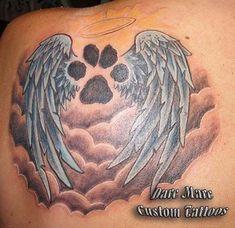 Wings+With+Dog+Paw+Gwan+Soon+Lee+Tattoo | Tattoos ...