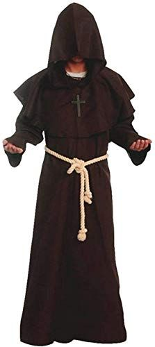 Monk Friar Tuck Little John Robin Hood Gents Fancy Dress Costume