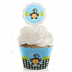 Monkey Boy  Cupcake Wrapper  Pick Party Kit  Set of 24 ** Check out the image by visiting the affiliate link Amazon.com on image.