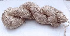 SALE 15% Off  SILK-CAMEL Undyed 2ply Fingering Yarn by petitknit