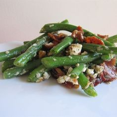 """Green Beans with Blue Cheese 