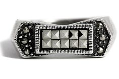 Silver Marcasite Ring by Tezsahcom https://www.etsy.com/listing/466163608/silver-marcasite-ring?ref=rss