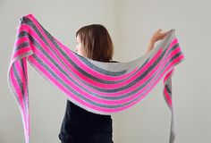 Ravelry: Happy Street pattern by Veera Välimäki - Grey and neon is so fashionable at the moment, I love the clever colours in this shawl.