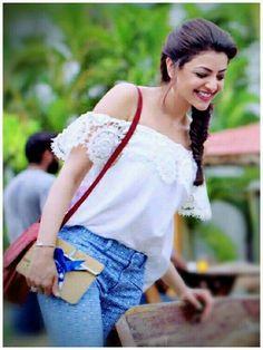 Smile Beautiful Girl Indian, Most Beautiful Indian Actress, Beautiful Actresses, Men's Fashion, Fashion Week, Beautiful Heroine, Kajal, Fashion Designer, Designer Wear