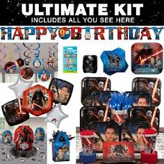 Star Wars Episode VII Birthday Party Ultimate Tableware Kit Serves 8 from Costume SuperCenter at SHOP.COM