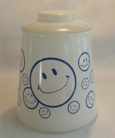 HTF Bartlett Collins Smiley Face Cookie Jar