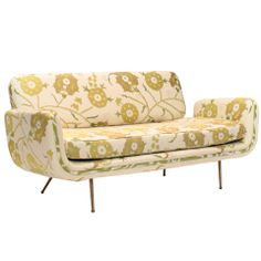 Alexander Girard Sofa reupholstered by Madeline Weinrib in Sunder Green fabric thumbnail 1
