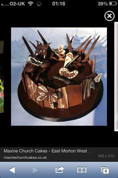Mmm choc butterfly cake