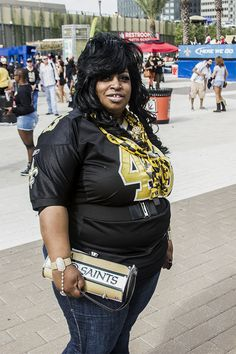 Who Dat?! New Orleans Saints fans be representing