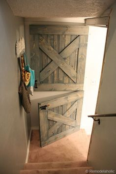 Give the doors in your home a makeover with these great ideas, including one about dutch doors inside your home serving as a baby or doggie gate.