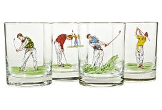 Golfing Old Fashioned Tumblers, S/4 on OneKingsLane.com