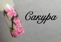 Сакура, рисунок гель- лаками. Простой дизайн ногтей