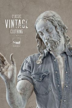 Very clever print ad for a charity that seeks to repurpose old clothes. Traid: Vintage statue